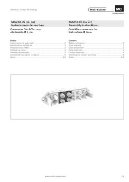 Assembly instructions MA213