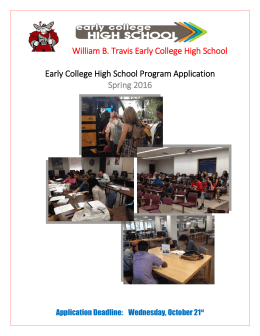 William B. Travis Early College High School Early College High