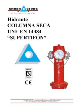 Hidrante COLUMNA SECA UNE EN 14384