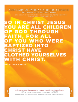 so in christ jesus you are all children of god through faith, for all of
