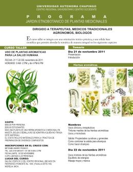 programa jardin etnobotanico de plantas medicinales