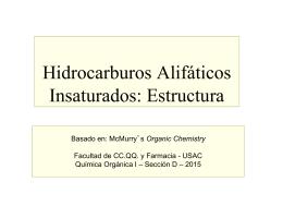 Hidrocarburos Alifáticos Insaturados