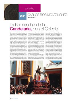 La hermandad de la Candelaria, con el Colegio
