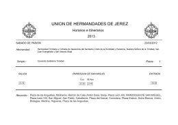 UNION DE HERMANDADES DE JEREZ