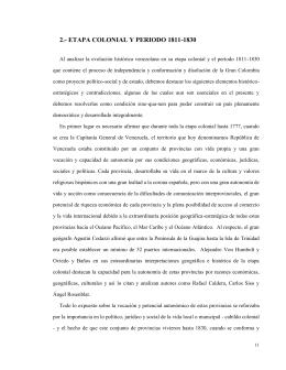 Etapa Colonial Y Periodo 1811-1830