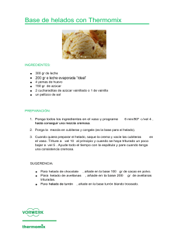 Base de helados con Thermomix