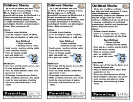 Childhood Obesity - Practical Parent Education