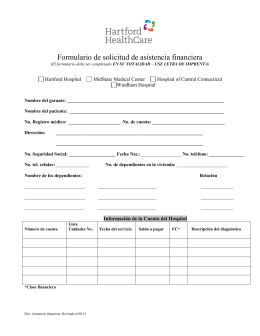 Hartford HealthCare Financial Assistance Application Form