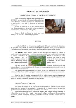 Las gachas - Villar de Cañas