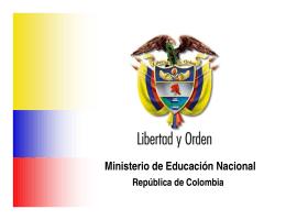 Programa Nacional de Bilingüismo - Ministerio de Educación Nacional