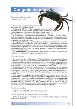 Cangrejo de mar - Fundación Española de la Nutrición
