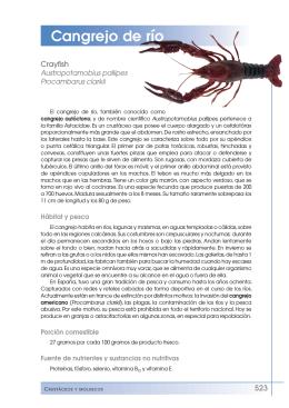 Cangrejo de río - Fundación Española de la Nutrición