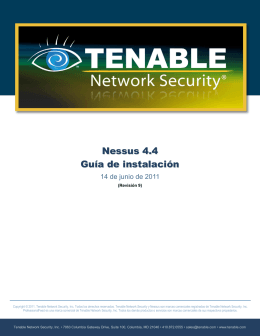 - Tenable Network Security