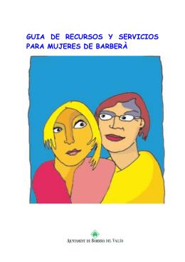 GUIA DE RECURSOS Y SERVICIOS PARA MUJERES DE BARBERÀ