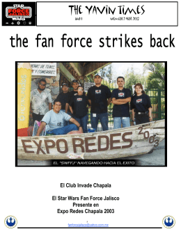 Abril 2003 - Star Wars Fan Force Jalisco