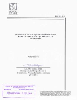 Documento - Instituto Mexicano del Seguro Social
