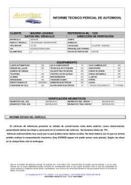 INFORME TECNICO PERICIAL DE AUTOMOVIL