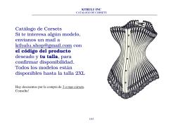 Catálogo de Corsets Si te interesa algún modelo