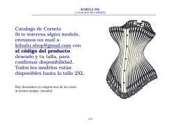 Catalogo de Corsets Si te interesa algún modelo