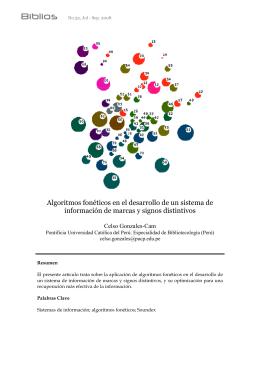 Algoritmos fonéticos en el desarrollo de un sistema de - e-Lis