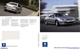 Catálogo del Peugeot 607 en pdf
