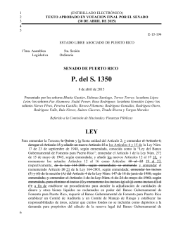 P del S 1350 aprobado en Cámara