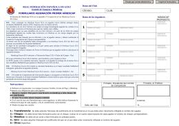 Formulario de asignación de handicap