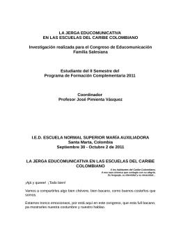 LA JERGA EDUCOMUNICATIVA EN LAS - CCA ECA-USP