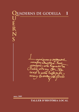 839/1587 Reedici.n (Quaderns 1) - Taller d`Història Local de Godella