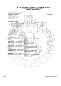 Clasificaciones F-S sen 9-10 May. 2015