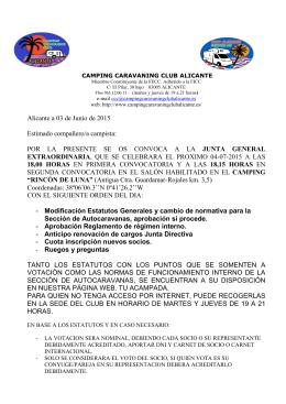 Alicante a 03 de Junio de 2015 Estimado compañero/a campista