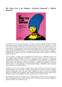 `De Mona Lisa a los Simpson` -Francesca