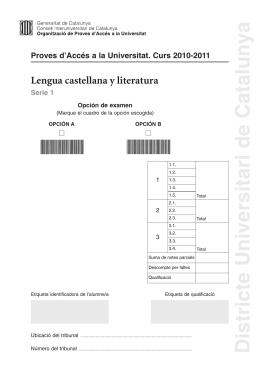 XP-Lengua castellana-S1-2011:PAU