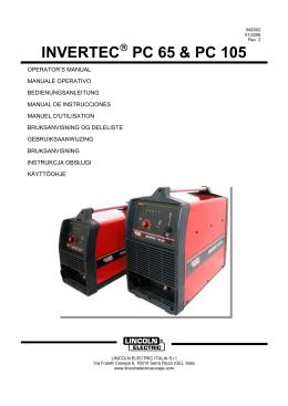 INVERTEC PC 65 & PC 105