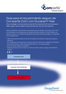 Guía para el recubrimiento seguro de Compartis CoCr