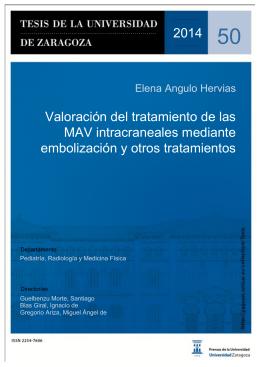 Valoración del tratamiento de las MAV intracraneales mediante