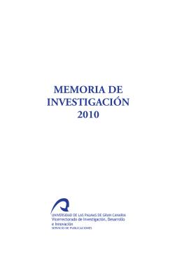 Memoria de investigación 2010 - Acceda