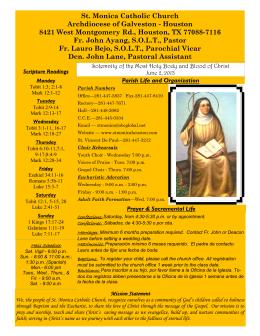 St. Monica Catholic Church Archdiocese of Galveston