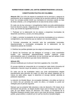 Junta Administradora Local - Secretaría Distrital de Gobierno