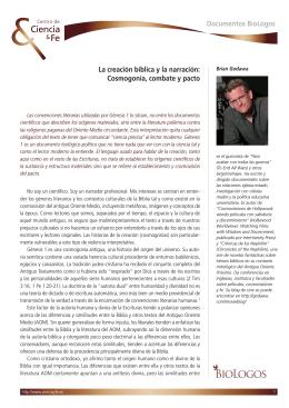 Cosmogonía, combate y pacto Documentos BioLogos