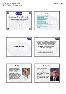 Economía de la Información - Facultad de Ciencias Económicas y