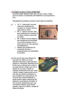 Como usar un multimetro - Electro