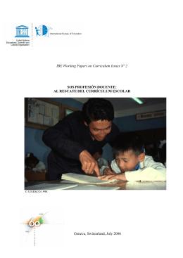 SOS Profesión Docente: Al rescate del currículum escolar