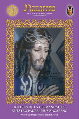 BOLETIN Nº0.qxd - Hermandad de Nuestro Padre Jesús Nazareno