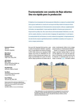 Fracturamiento con canales de flujo abiertos: Una