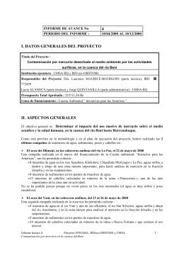 4 I. DATOS GENERALES DEL PROYECTO II. ASPECTOS