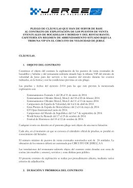 Pliego bocadillos - Circuito de Jerez