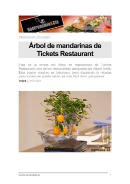Árbol de mandarinas de Tickets Restaurant