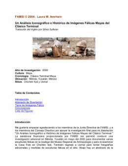 Un Análisis Iconográfico e Histórico de Imágenes Fálicas Mayas del