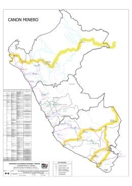 Mapa de Ubicación de las Principales Compañías Mineras y